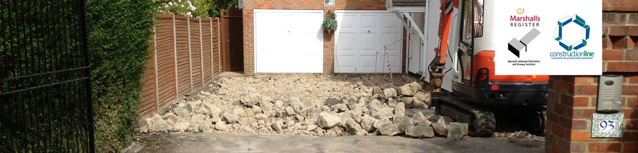 Groundwork preparation on all driveways