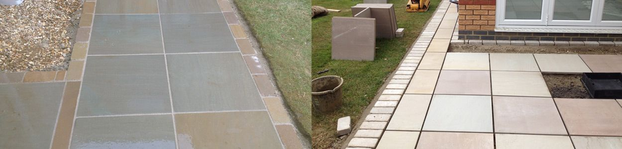 Mixed material patios